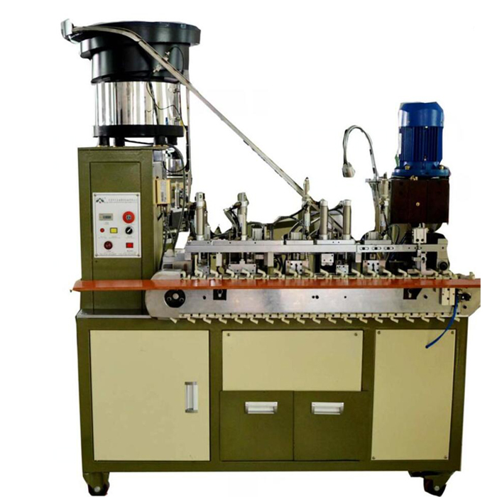 Automatic European plug crimping machine for round cable WPM-203-F